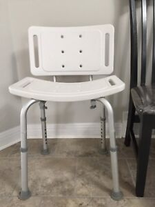 Adjustable Shower seat with back