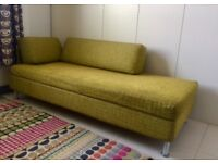 Award Winning Swiss Made Sofa bed, Designers Guild Fabric 2m x 1.68m double.