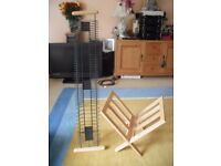 Wooden Magazine Rack and CD Rack