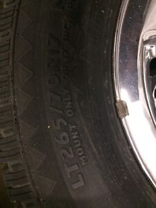 Set of delta sieradial a/t tires only