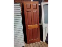 Mahogany panelled door (Longden)