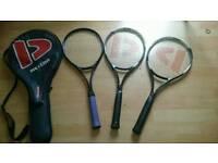 Tennis Rackets (Pair of Donnay Meteor Racket SL 3 + 1 Play Sport.