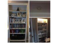 2x IKEA white bookcases