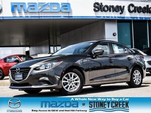 2014 Mazda MAZDA3 GS 0.65% FIN, HEATED,LOW KMS,B/UP CAM,1 OWNER!