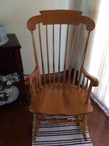 Baby's  Best Friend .............Wooden Rocking Chair