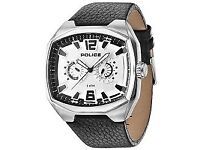 Police Fairplay Men's Quartz Watch Silver Dial Analogue with lifetime Timson battery replacement