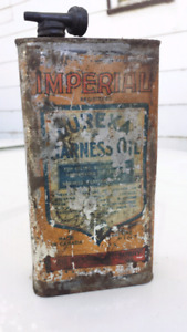 Vintage Imperial Eureka Harness  Oil Tin