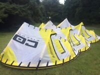 Core kitesurfing kites 7m, 9m, 12m and 2 bar and lines