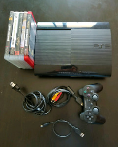 PlayStation 3 super slim 250 gb with games
