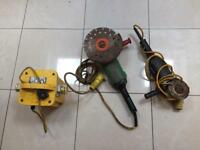 Angle grinder,transformer 110/open to offers