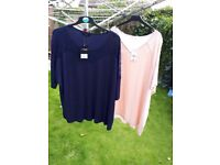 2 x size 22 women's tops BRAND NEW WITH TAGS