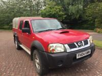 1 year mot Nissan navara d22 2.5di 4x4 double cab pick up 04reg