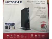 Netgear N600 Wireless Dual Band Gigabit Router, Boxed as New!
