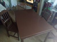 IKEA Table and 4 chairs, beautiful Mocha colour - PRICE DROP NEED GONE ASAP