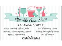 SPARKLE & SHINE CLEANING SERVICES, DOSMESTIC HOUSE, OFFICES, WASTE REMOVAL, FREE QUOTE 07982869929
