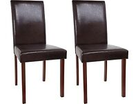 Homebase Faux Leather Dining Chairs 2 - 6 Available