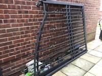 Driveway large iron cast electrical gates