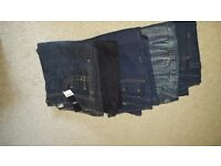 Ladies jeans size 10 mixed length.