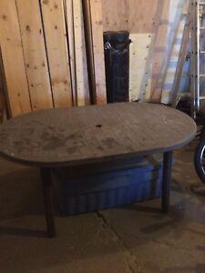 Heavy duty patio table