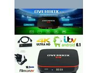 OVERBOX IPTV ANDROID TV BOX. HD 4K BEST IN UK