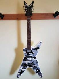 Dean Dime-o-Flage Snow Camo Electric Guitar