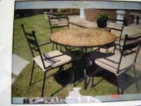 metal table and 4chairs