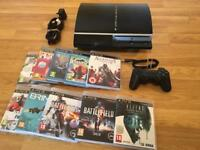 80gb PS3 Console Complete with 10 games £50 no offers PLAYSTATION 3