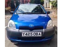 Toyota Yaris GS 1.0 5 Door Hatchback Blue 2001 £795