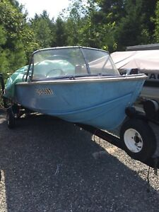 14 ft aluminum with 40 hp evenrude and trailer