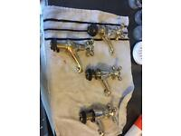 Gold looking brass taps brand new