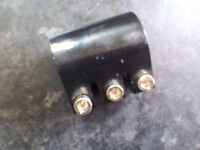Scooter triple bolt clamp