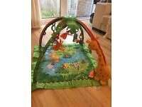 Fisher Price Play Matt with lights, Nursery Rhymes and Tropical Rainforest sounds
