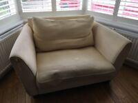 Double sofa cream