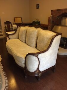 Antique set Louis the 13th & 2 Antique Chairs with papers
