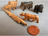 prison art wooden animal figures