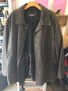 Brown leather jacket xlt