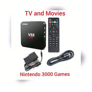 V88 4K Android box 6.0 Kodi Nintendo N64 SNES and Atari games