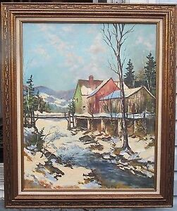 WALTER PRANKE ORIGINAL OIL PAINTING LISTED ARTIST $550 OBO