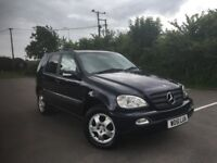 mercedes ML 270 Diesel,7 seater,new mot,new tyres,leather,heated seats,cruise control
