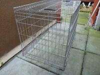 NEW LARGE DOG CAGE WITHH INNER STEEL TRAY, BARGAIN £20 CAN DELIVER
