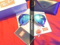 best rayban aviator men's women's sunglasses wayfarer clubmaster mirrorlens pilot new box bag