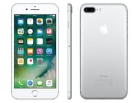 Apple iphone 7 plus 128gb silver in excellent condition