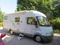 Hymer 674 Motorhome Full size twin beds, Large Garage. Satellite Dish, Solar Panel