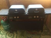 Twin gas barbecue with full calor gas bottle from b&q