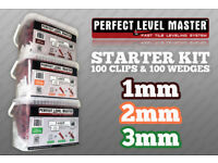 Perfect Level Master - Starter Kit - 100 Clips & 100 Wedges