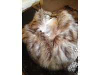 Brown & cream fur shrug