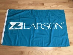 "BEAUTIFUL LARGE LARSON DEALER'S FLAG - 57"" X 34"""