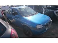 2000 VAUXHALL CORSA SXI 16V, 1.2 PETROL, BREAKING FOR PARTS ONLY, POSTAGE AVAILABLE NATIONWIDE