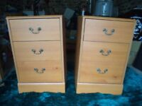 Bedside drawers/cabinets.