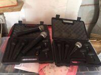 7 microphones set